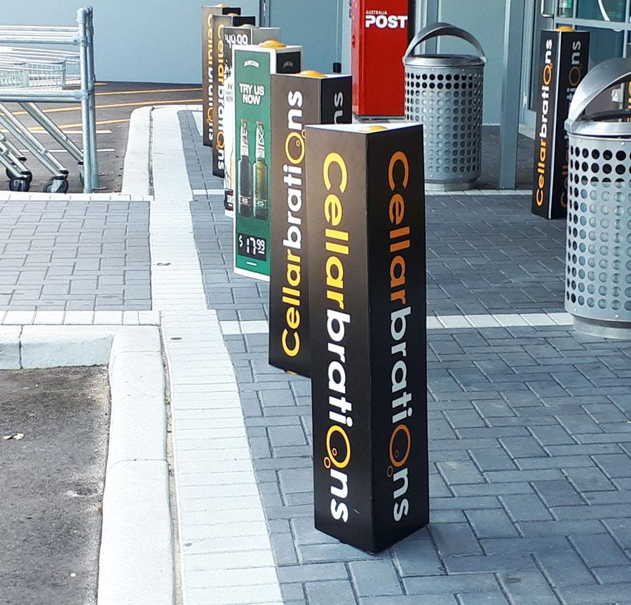 Bollard cover in use