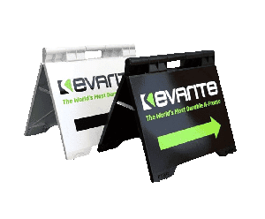 a-frame signs with the Evarite